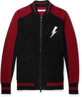 Givenchy - Slim-Fit Appliquéd Intarsia Wool Bomber Jacket