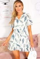 Pink Boutique Tobi Green Wrap Top Frill Hem Mini Dress