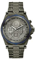 GUESS Gunmetal-Tone Masculine Detailed Chronograph Watch