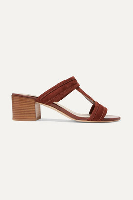Tod's Suede Sandals - Tan