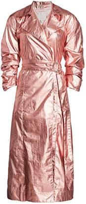 Cinq à Sept Kianna Foil Metallic Trench Coat
