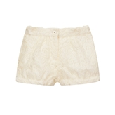 Chloe - Girl's Twill Lined Lace Short