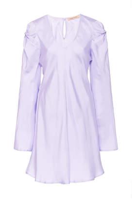 Maggie Marilyn Just In Time Gathered Silk-Satin Mini Dress