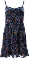 Anna Sui floral velvet burnout dress