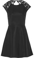 Maje Rodney Open-Back Sequin-Embellished Lace-Paneled Neoprene Mini Dress