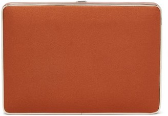 Hunting Season The Square Compact Satin Clutch - Orange