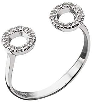 Canyon Ring-Sterling Silver Cubic Zirconia R4323 silver