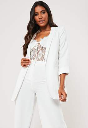 Missguided Tall White Co Ord Boyfriend Blazer