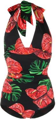 Dolce & Gabbana Anthurium print swimsuit