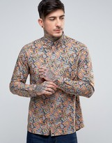 Pretty Green Gretton Shirt Paisley Print Buttondown