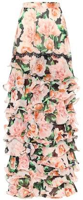 Costarellos Lennisa floral georgette skirt