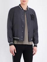 Alexander McQueen Embroidered-detail wool-blend bomber jacket