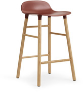 Normann Copenhagen Form Barstool H65cm Red/Oak