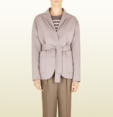 Gucci Grey Soft Wool Deconstructed Coat