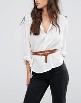 Vero Moda Leather Double Belt