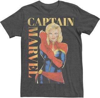 Licensed Character Men's Captain Marvel Vintage Suit Up Poster Tee