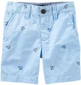 Osh Kosh Anchor Print Flat-Front Shorts
