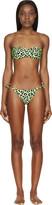 Christopher Kane Green Leopard Bandeau Bikini