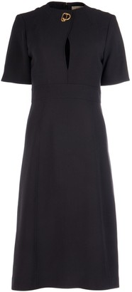Burberry D-Ring Detail Flared Dress