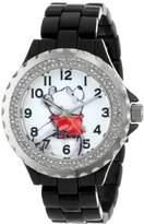 EWatchFactory Disney Women's W000995 Winnie Black Enamel Watch