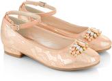 Monsoon Pretty Jewel Lace Print Mini Heel Shoes