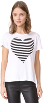 Sundry Striped Heart Boy Tee