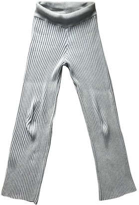 Baja East Grey Cotton Trousers