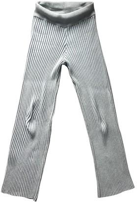Baja East \N Grey Cotton Trousers