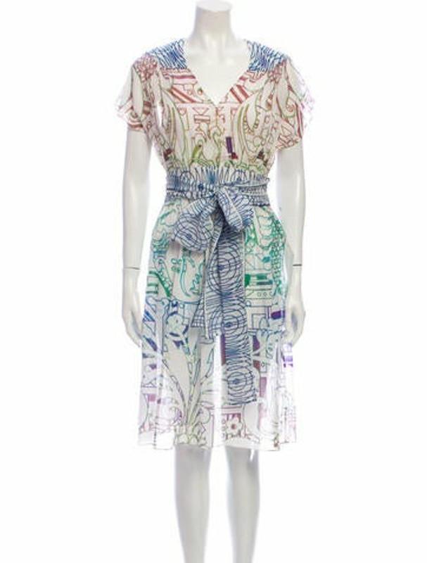 Matthew Williamson Printed Knee-Length Dress White