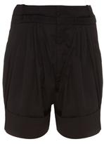 J.w.anderson Pleated Cotton-blend Poplin Shorts