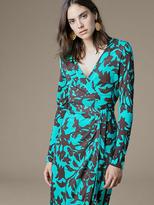 Diane von Furstenberg Banded Long-Sleeve Wrap Dress
