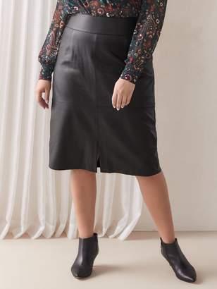 Genuine Leather Pencil Skirt - Addition Elle