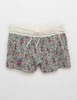 aerie Poplin Boxer + Crochet
