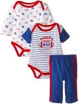 Bon Bebe Baby-Boys Newborn Daddy's MVP 3 Piece Bodysuit and Pant Set, Multi