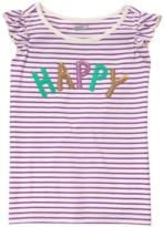 Crazy 8 Sparkle Happy Stripe Tee