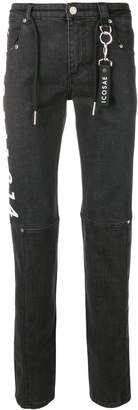 Icosae graphic print skinny-fit jeans