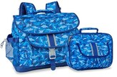 Bixbee Boy's 'Large Shark Camo' Water Resistant Backpack & Lunchbox - Blue