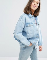 Monki Frill Denim Jacket