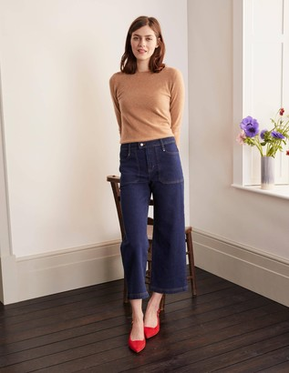 Cropped Wide Leg Cargo Jeans