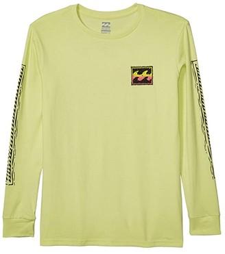 Billabong Kids Fifty Wave Long Sleeve T-Shirt (Big Kids) (Light Lime) Boy's Clothing