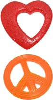 Sassy Water-Filled Teether Toy, Heart and Peace Sign