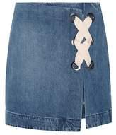 3x1 WS Hollow denim miniskirt