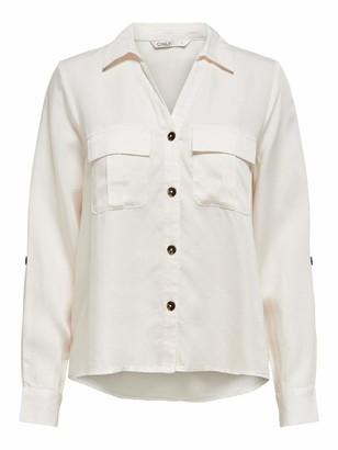 Only Women's ONLKAJA LS Shirt WVN Tank Top