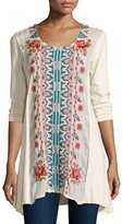Johnny Was Harlow Embroidered Long Tunic, Plus Size