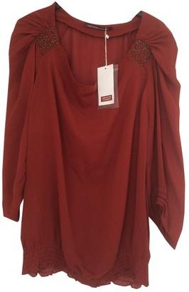 Comptoir des Cotonniers Red Silk Top for Women