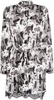 Liu Jo scalloped hem printed shirt dress