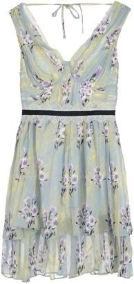 Self-Portrait Floral Sleeveless Lace Chiffon Dress