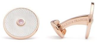 Deakin & Francis Dreamcatcher Sapphire & Sterling-silver Cufflinks - White