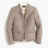 J.Crew Colorful metallic tweed jacket with front pockets