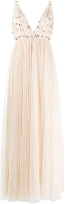 Needle & Thread Neve embellished-detail gown